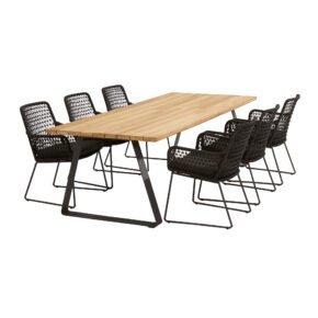 """4Seasons Outdoor Gartenmöbel-Set mit Tisch """"Basso"""" und Diningsessel """"Athena"""", Tisch mit zusätzlichem Mittelfuß (fehlt auf der Abb.)"""
