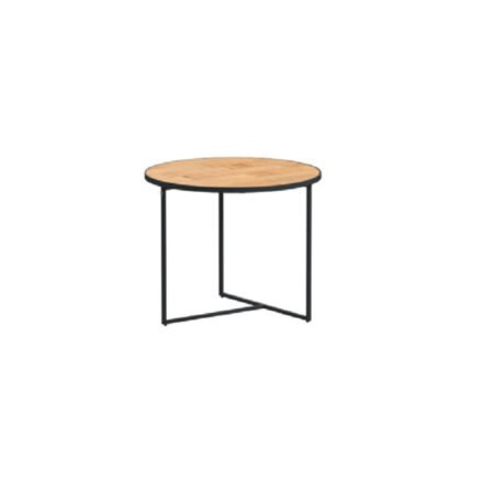 "4Seasons Outdoor Kaffeetisch ""Strada"", Alu anthrazit, Tischplatte Teak, Ø 55 cm, Höhe 45 cm"