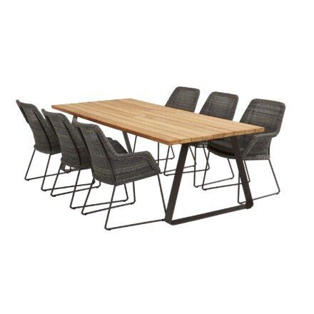 """4Seasons Outdoor Gartenmöbel-Set mit Tisch """"Basso"""" und Diningsessel """"Samoa"""", Tisch mit zusätzlichem Mittelfuß (fehlt auf der Abb.)"""