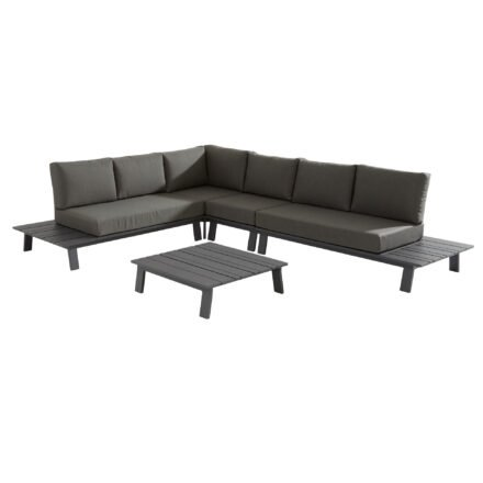 "4Seasons Outdoor Eckloungeset 5-tlg. ""Sofia"", Alu matt carbon, inkl. Kissenset"
