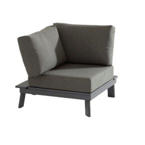 "4Seasons Outdoor Loungeeckteil ""Sofia"", Alu matt carbon, inkl. Kissen grau"