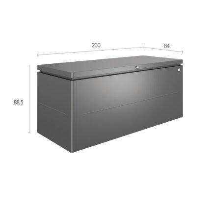 """Biohort """"LoungeBox"""" Stahlblech feuerverzinkt, dunkelgrau-metallic, Größe 200"""