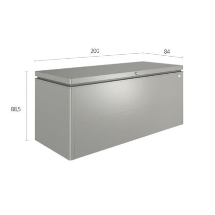 """Biohort """"LoungeBox"""" Stahlblech feuerverzinkt, quarzgrau-metallic, Größe 200"""
