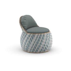 """DEDON Club Chair """"DALA"""", DEDON Faser bahamas, Polster Bezug MAR nori"""