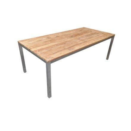 """Diamond Garden Gartentisch """"Salerno"""" 210x100 cm, Gestell Edelstahl, Tischplatte Teakholz recycelt"""