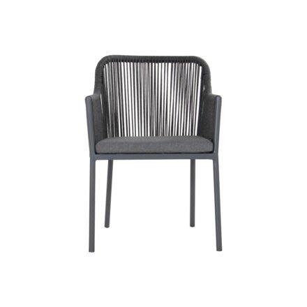 "Hartman Gartenstuhl ""Cairo"", Gestell Aluminium xerix, Bespannung rope grau, inkl. Sitzkissen ash grey"