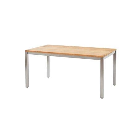 """Diamond Garden Gartentisch """"Salerno"""", Gestell Edelstahl, Tischplatte Teakholz recycelt"""