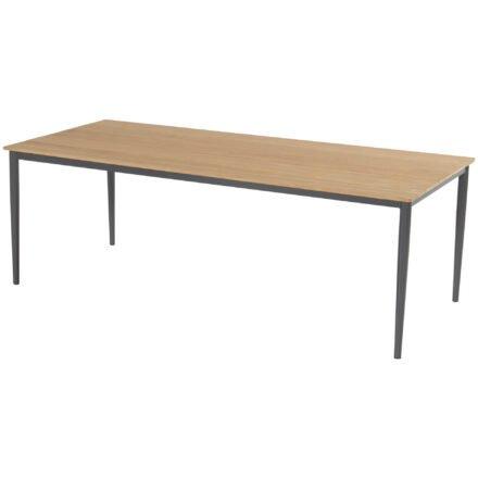 "Hartman Gartentisch ""Vigo"", Gestell Aluminium xerix, Tischplatte Teakholz, 220x100 cm"