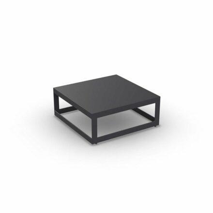 "Jati&Kebon ""Burford"" Loungetisch, Aluminium eisengrau 70x70 cm"