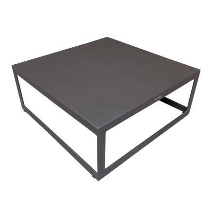 "Jati&Kebon ""Burford"" Loungetisch, Aluminium eisengrau 90x90 cm"