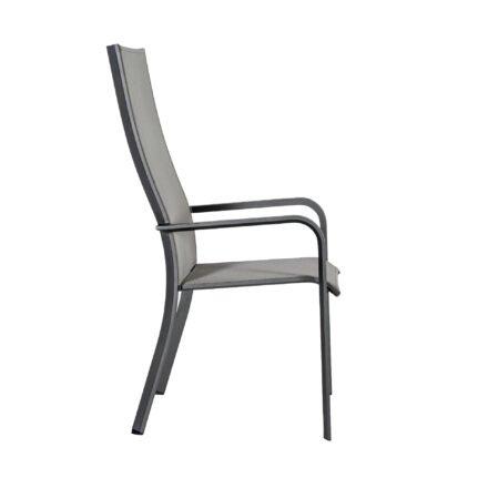 "Jati&Kebon ""Dransy"" Hochlehner, Aluminium eisengrau, Textilgewebe silbergrau"