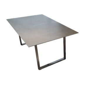 "Jati&Kebon ""Rao"" Dining-Loungetisch, Gestell Edelstahl, Tischplatte HPL, 160x90x65 cm"