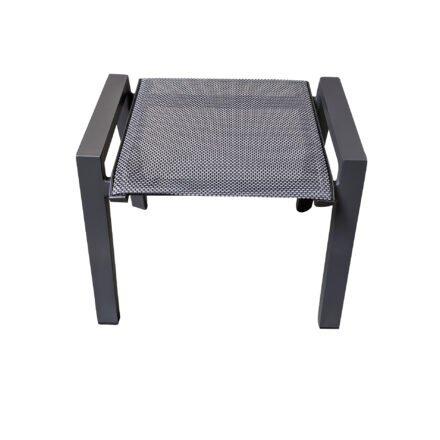 "Lesli Living ""Amir"" Gartenhocker, Gestell Aluminium anthrazit matt, Sitz Textilgewebe schwarz/grau"