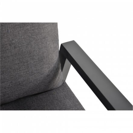 "Lesli Living Loungeset 4-tlg. ""Ohio"", Alu charcoal, Bezug Olefin anthrazit"