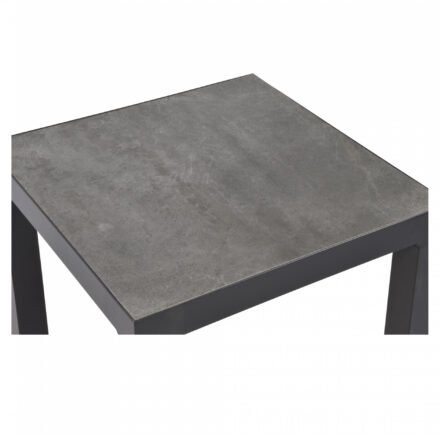 "Lesli Living Beistelltisch ""Ohio"", 50x50 cm, Alu charcoal, Tischplatte Keramik Stone 13mm"