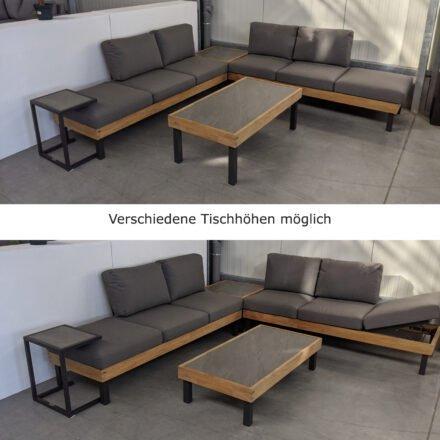 """Ploß Loungeserie """"Skagen"""", Couchtisch & Ecktisch inkl. Ersatzbeinen für zwei verschiedene Tischhöhen (31 cm und 44 cm)"""