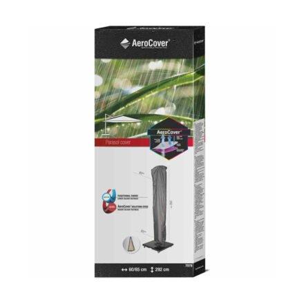 AeroCover Ampelschirm-Schutzhülle - H292x60/65 cm für Ampelschirme 300x400 cm und geradem Stock