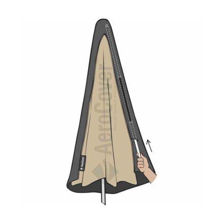 AeroCover Sonnenschirm-Schutzhülle mit eingebautem Glasfaserstab