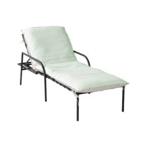"""Hartman """"Playa"""" Sonnenliege, Gestell Aluminium schwarz, Polster Sunbrella mint"""