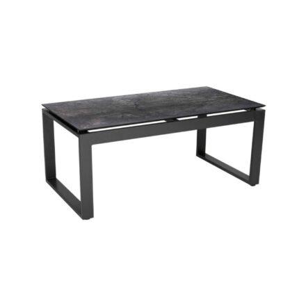 """Stern Beistelltisch """"Allround"""", Gestell Aluminium anthrazit, Tischplatte HPL dark marble"""