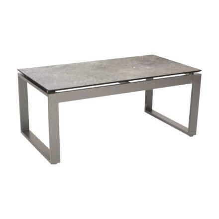 """Stern Beistelltisch """"Allround"""", Gestell Aluminium graphit, Tischplatte HPL vintage stone"""