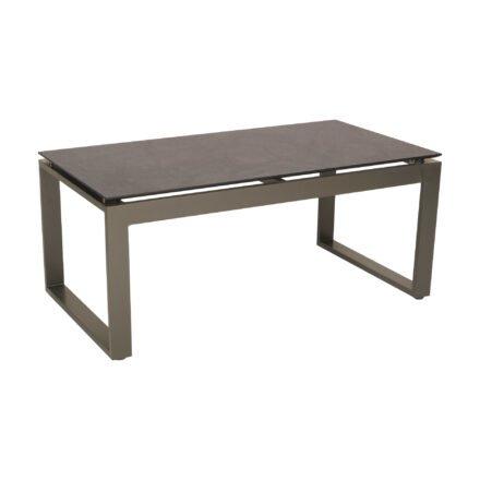 """Stern Beistelltisch """"Allround"""", Gestell Aluminium taupe, Tischplatte HPL dark marble"""