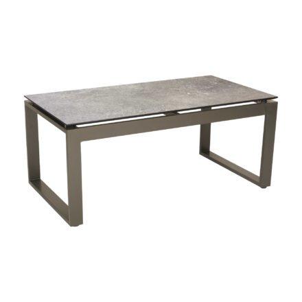 """Stern Beistelltisch """"Allround"""", Gestell Aluminium taupe, Tischplatte HPL vintage stone"""