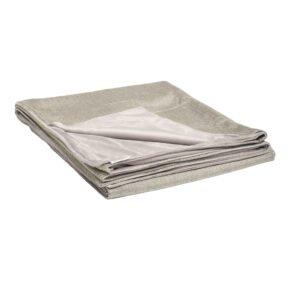 Stern Kuscheldecke 158x200 cm, Vorderseite graubraun 100% Polyacryl, Rückseite hellgrau 100% Polyester