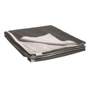 Stern Kuscheldecke 158x200 cm, Vorderseite schiefergrau 100% Polyacryl, Rückseite hellgrau 100% Polyester