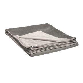 Stern Kuscheldecke 158x200 cm, Vorderseite seidengrau 100% Polyacryl, Rückseite hellgrau 100% Polyester