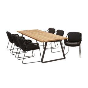 """4Seasons Outdoor Gartenmöbel-Set mit Tisch """"Basso"""" und Diningsessel """"Accor"""", Tisch mit zusätzlichem Mittelfuß (fehlt auf der Abb.)"""
