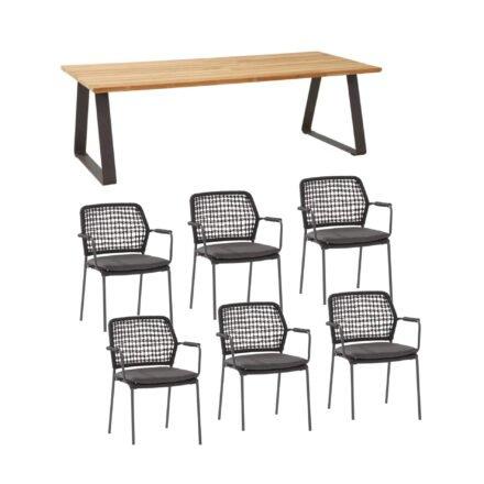 """4Seasons Outdoor Gartenmöbel-Set mit Tisch """"Basso"""" und Diningsessel """"Barista"""""""
