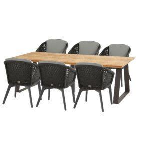 """4Seasons Outdoor Gartenmöbel-Set mit Tisch """"Basso"""" und Diningsessel """"Belize"""""""