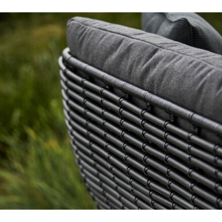 "Cane-line ""Basket"" Loungeserie, Geflecht graphite, AirTouch-Kissen grey"