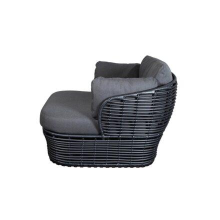 """Cane-line """"Basket"""" Loungesessel, Geflecht graphite, AirTouch-Kissen grey"""