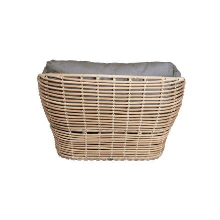 """Cane-line """"Basket"""" Loungesessel, Geflecht natural, AirTouch-Kissen taupe"""