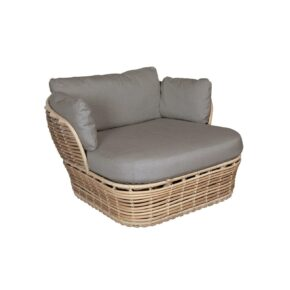 "Cane-line ""Basket"" Loungesessel, Geflecht natural, AirTouch-Kissen taupe"