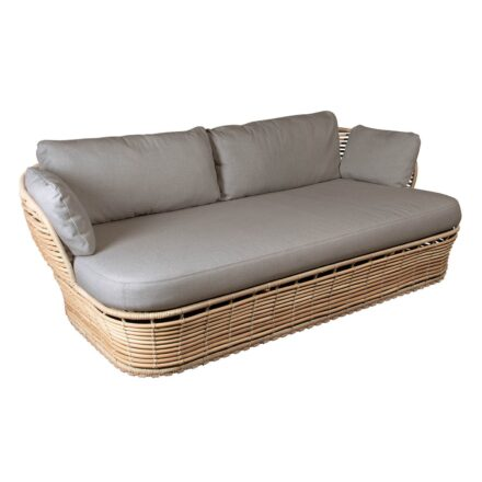 """Cane-line """"Basket"""" Loungesofa, Geflecht natural, AirTouch-Kissen taupe"""