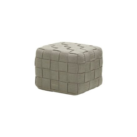 """Cane-line """"Cube"""" Hocker, Soft Rope taupe"""
