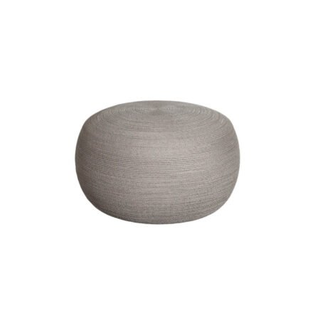 "Cane-line ""Circle"" Hocker, groß, Soft Rope taupe"