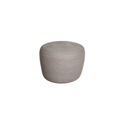 "Cane-line ""Circle"" Hocker, klein, Soft Rope taupe"