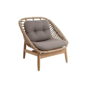 """Cane-line """"String"""" Loungesessel, Geflecht natural, AirTouch-Kissen taupe"""