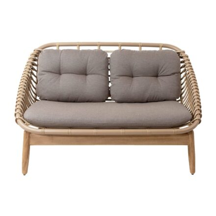 """Cane-line """"String"""" Loungesofas, Geflecht natural, AirTouch-Kissen taupe"""