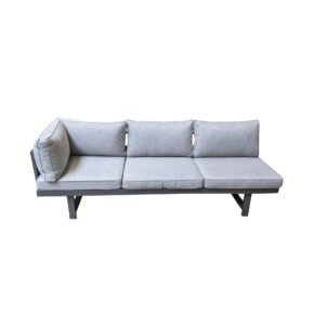 "Home Islands ""New Chalong"" Loungesofa, Gestell Aluminium anthrazit, Polster hellgrau"
