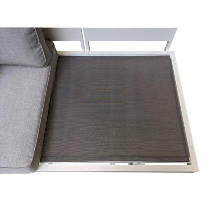 """Home Islands """"New Chalong"""" Loungesofa, Gestell Aluminium weiß, Sitzflächenbasis aus Textilgewebe"""