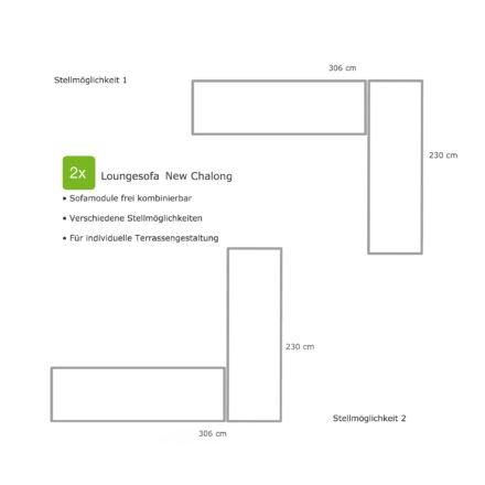 """Home Islands Loungesofa """"New Chalong"""", Stellvarianten für 2 Loungesofas über Eck"""