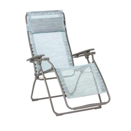 "Lafuma Relaxsessel ""Futura, Stahlrohr titane, Textilgewebe Velio® Neo eva (blue) © LAFUMA MOBILIER - Pierrick Verny"