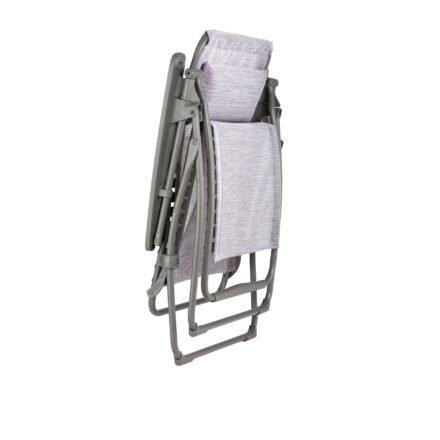 "Lafuma Relaxsessel ""Futura, Stahlrohr titane, Textilgewebe Velio® Neo flora (mauve) © LAFUMA MOBILIER - Pierrick Verny"