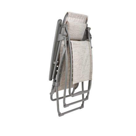 "Lafuma Relaxsessel ""Futura, Stahlrohr titane, Textilgewebe Velio® Neo ipanema (beige) © LAFUMA MOBILIER - Pierrick Verny"