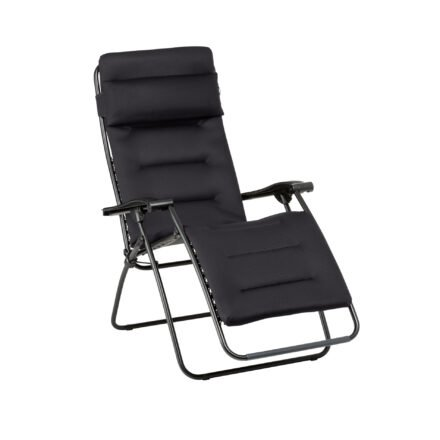 "Lafuma Relaxsessel ""RSX Clip"", Stahlrohr schwarz, Textilgewebe AIR COMFORT® acier © LAFUMA MOBILIER - Pierrick Verny"